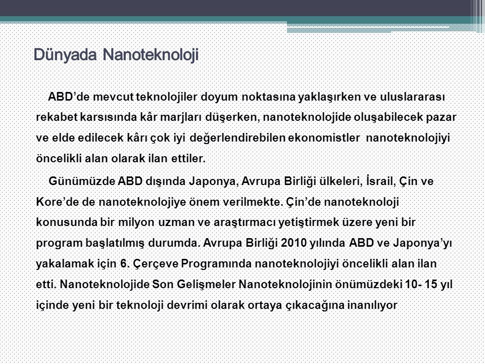 Dünyada Nanoteknoloji