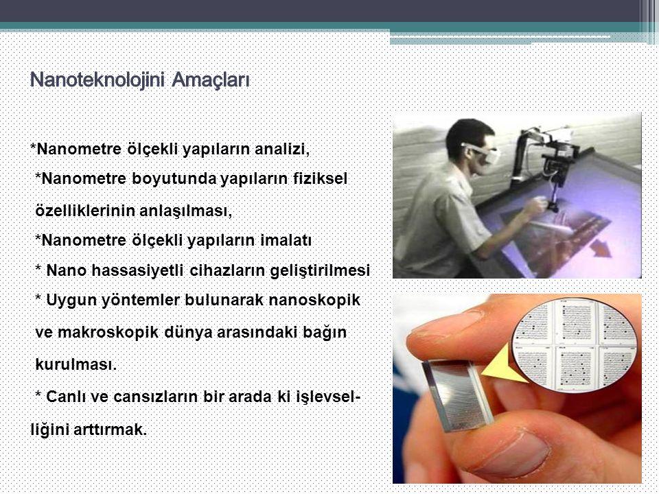 Nanoteknolojini Amaçları