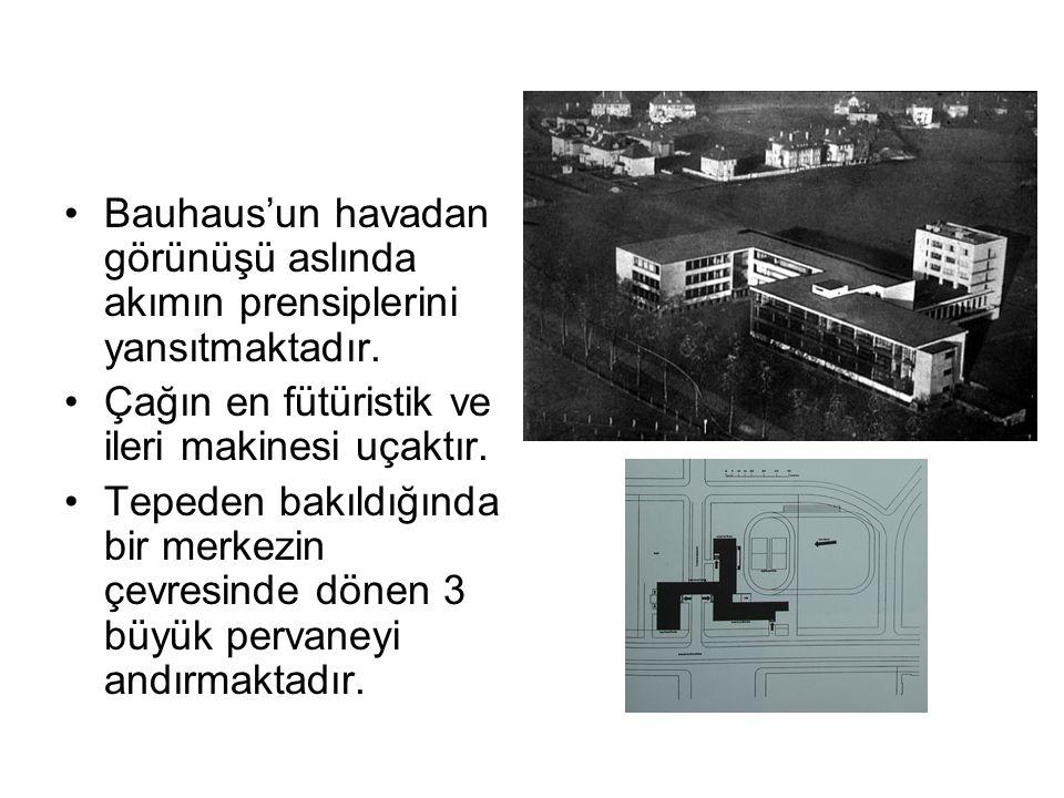 Bauhaus'un havadan görünüşü aslında akımın prensiplerini yansıtmaktadır.