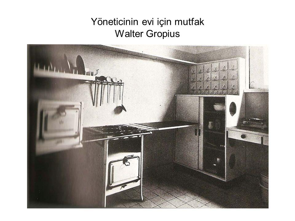 Yöneticinin evi için mutfak Walter Gropius