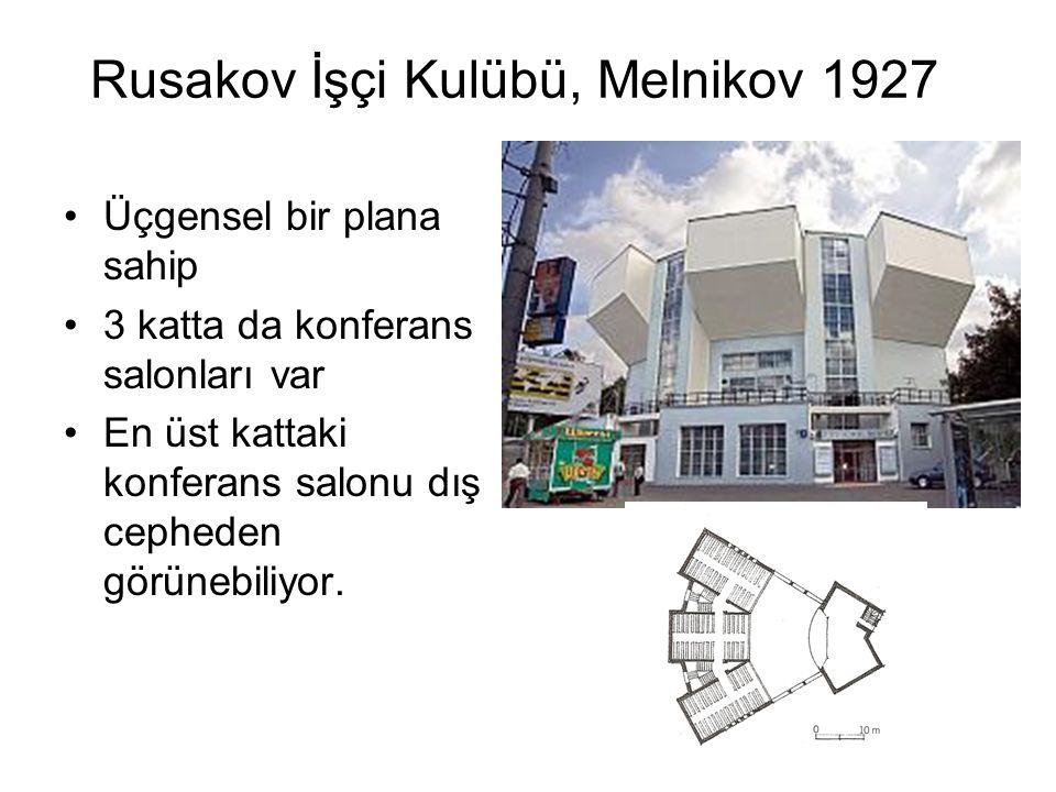 Rusakov İşçi Kulübü, Melnikov 1927