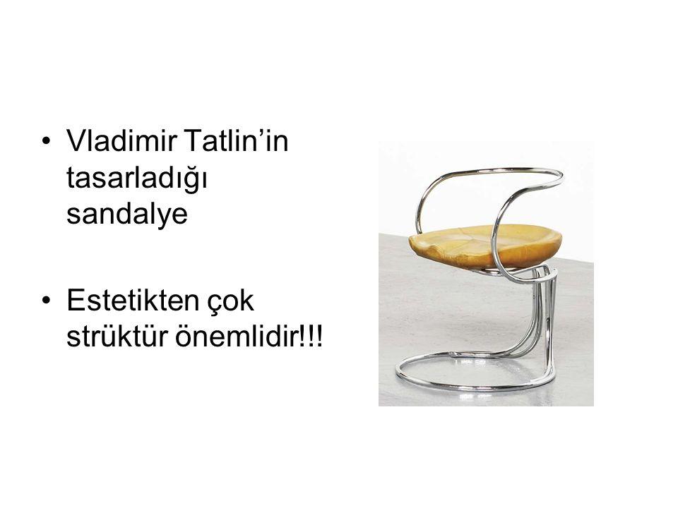 Vladimir Tatlin'in tasarladığı sandalye