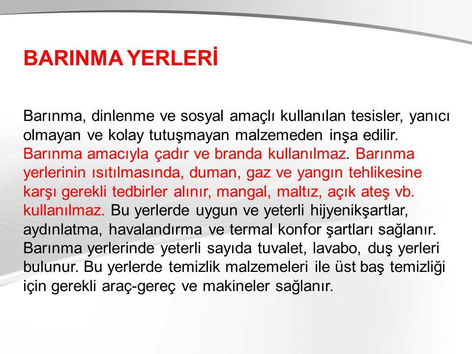 BARINMA YERLERİ