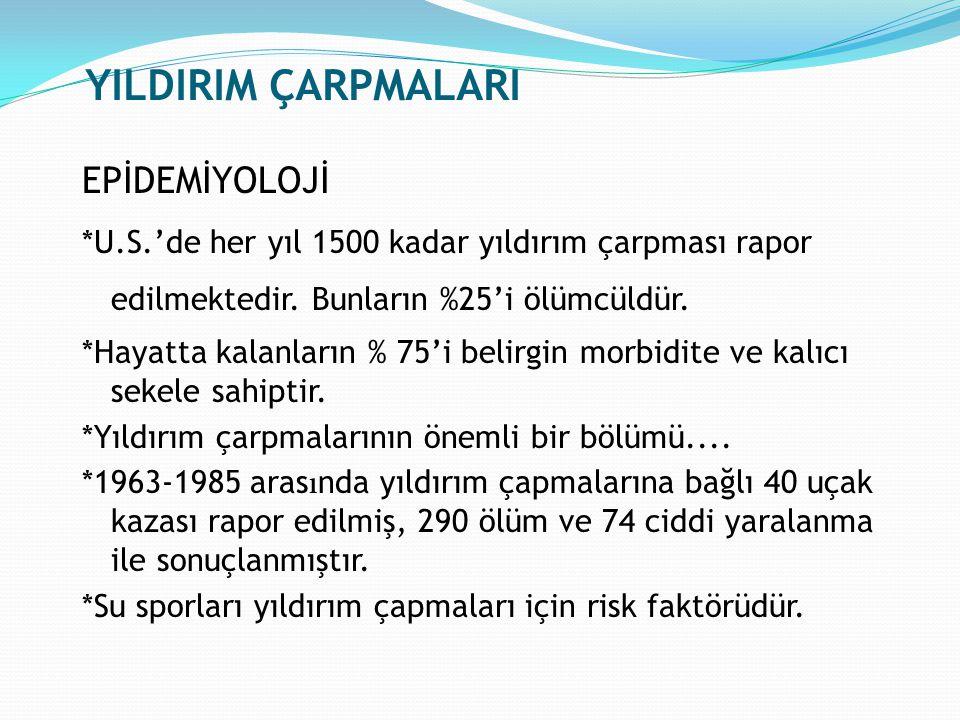 YILDIRIM ÇARPMALARI EPİDEMİYOLOJİ