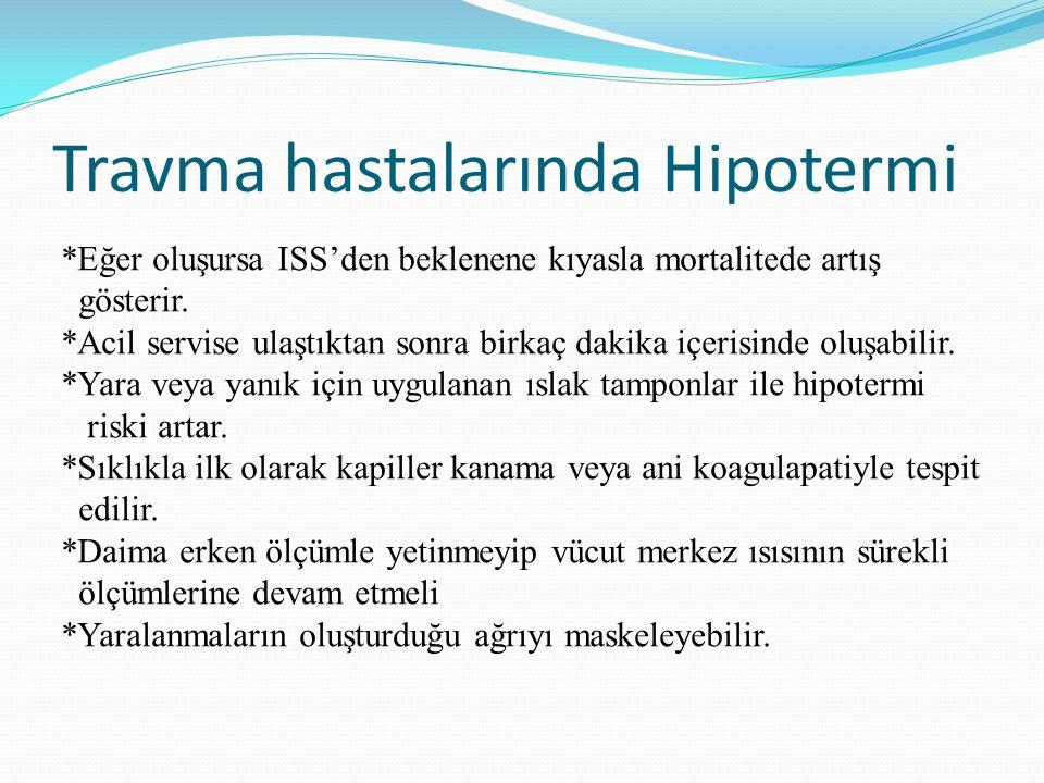 Travma hastalarında Hipotermi