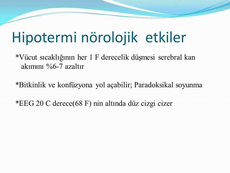 Hipotermi nörolojik etkiler