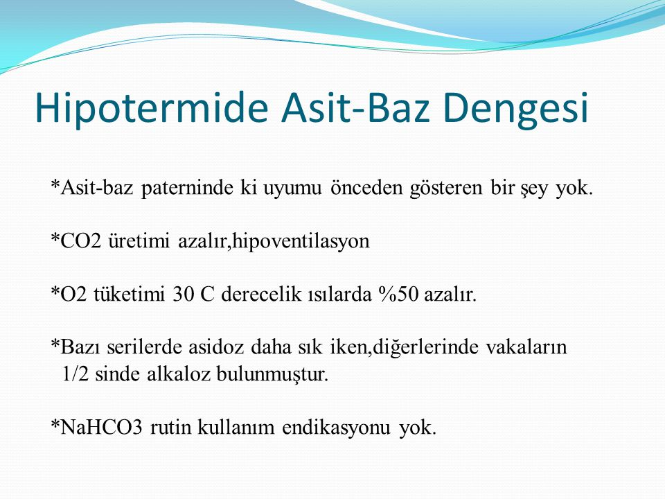 Hipotermide Asit-Baz Dengesi