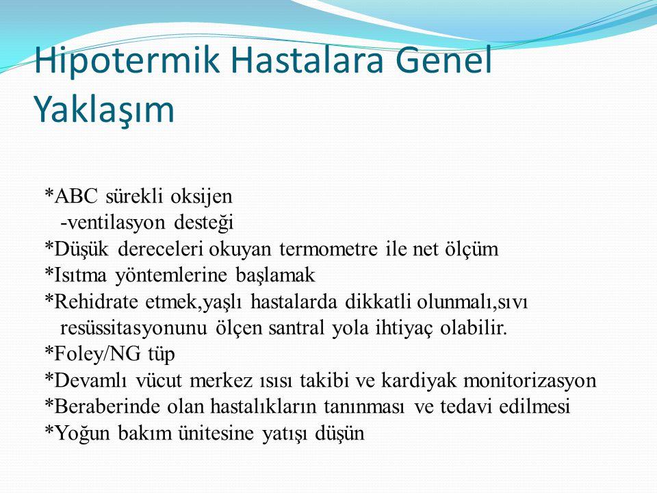 Hipotermik Hastalara Genel Yaklaşım
