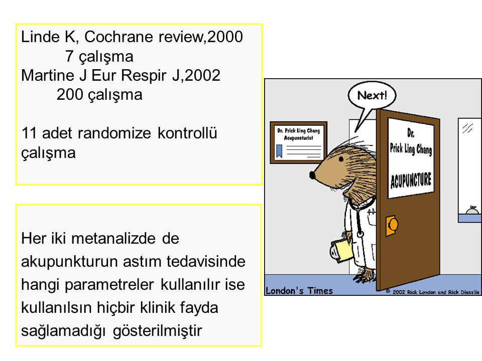 Linde K, Cochrane review,2000