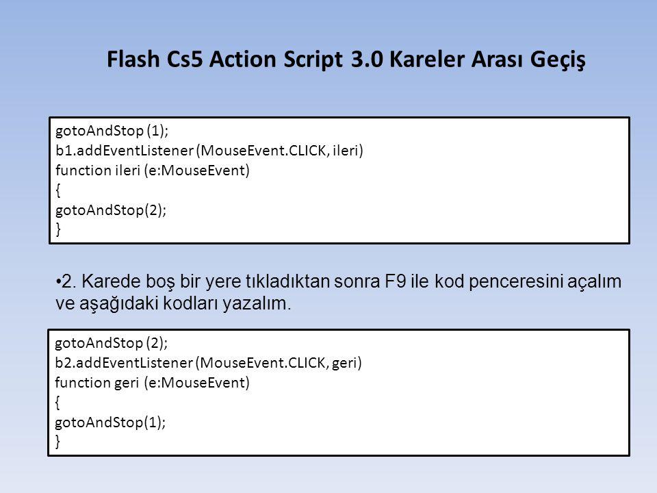Flash Cs5 Action Script 3.0 Kareler Arası Geçiş
