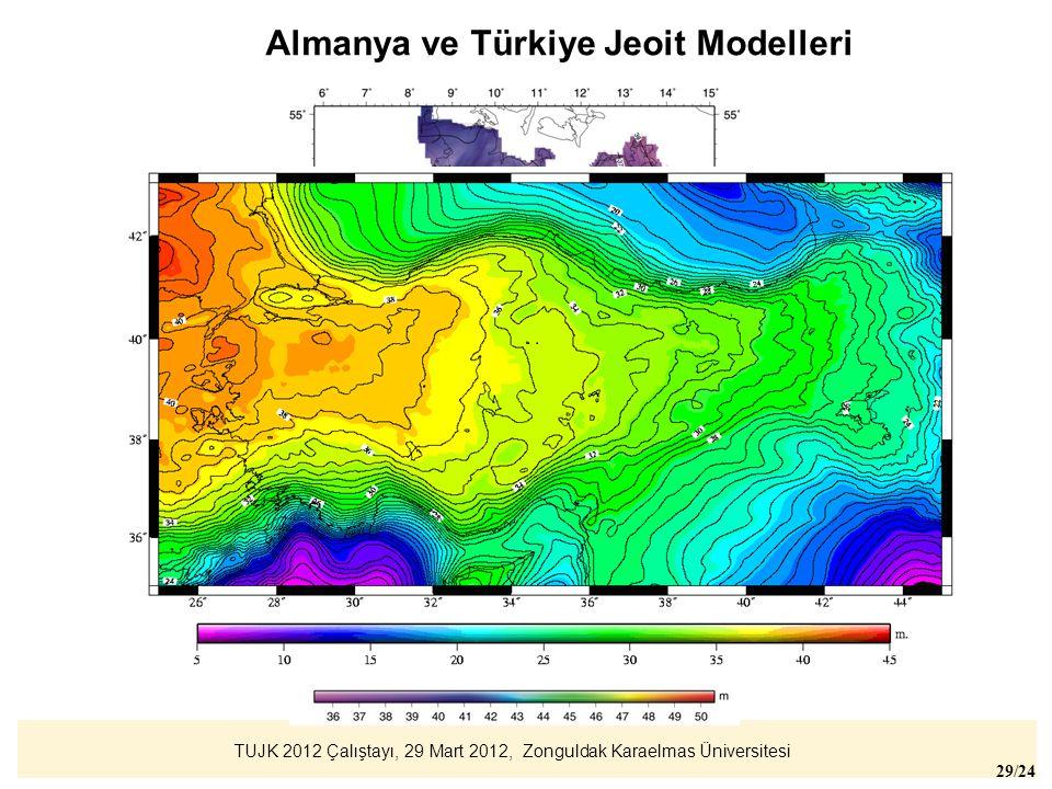 Almanya ve Türkiye Jeoit Modelleri