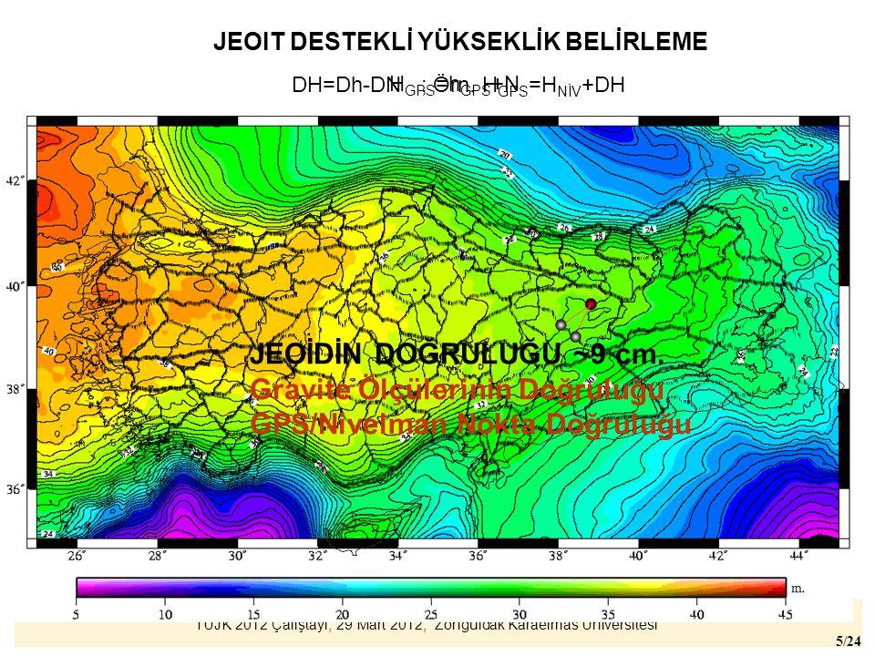 Gravite Ölçülerinin Doğruluğu GPS/Nivelman Nokta Doğruluğu