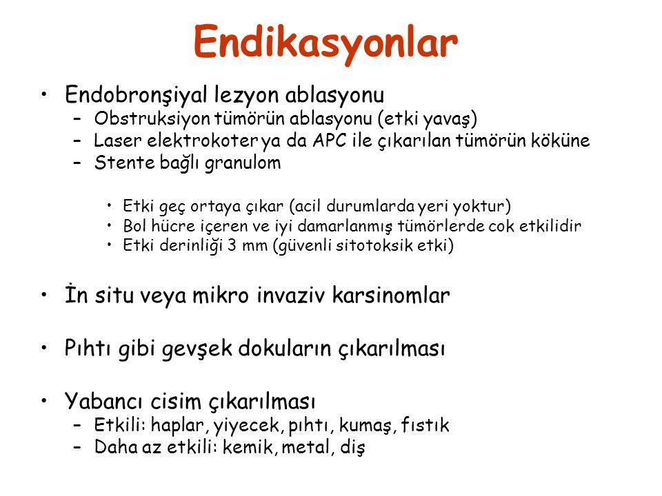 Endikasyonlar Endobronşiyal lezyon ablasyonu