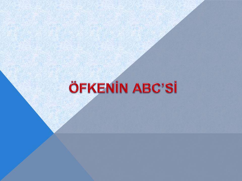 ÖFKENİN ABC'Sİ