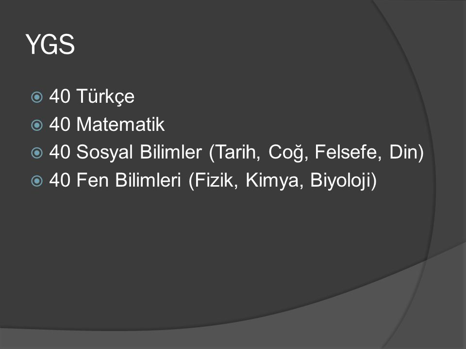 YGS 40 Türkçe. 40 Matematik.