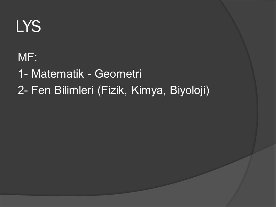 LYS MF: 1- Matematik - Geometri