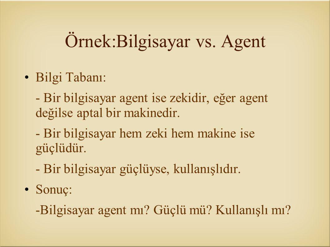 Örnek:Bilgisayar vs. Agent