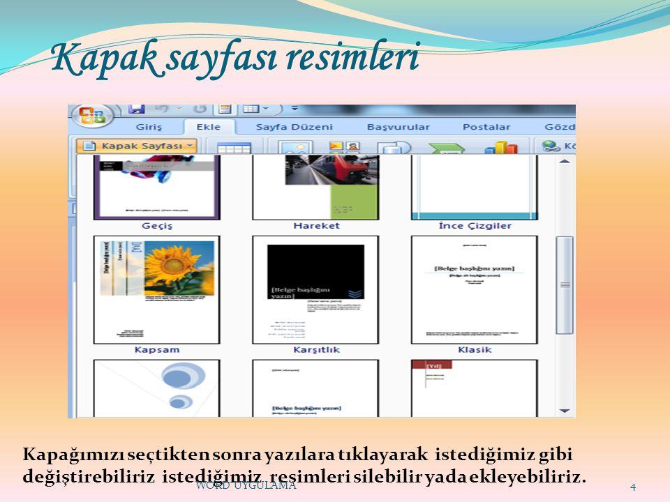 Kapak sayfası resimleri