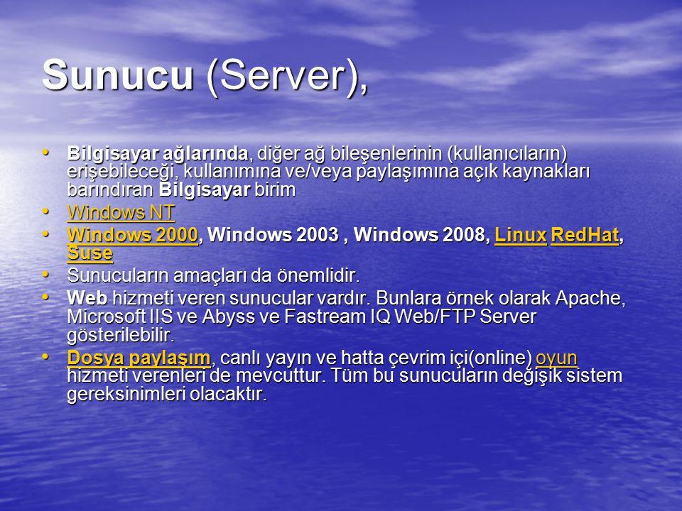 Sunucu (Server),