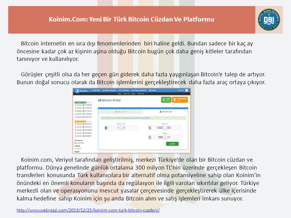 Koinim.Com: Yeni Bir Türk Bitcoin Cüzdan Ve Platformu