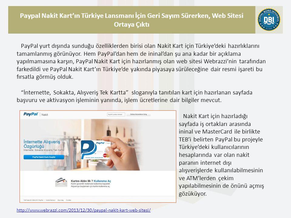 Paypal Nakit Kart'ın Türkiye Lansmanı İçin Geri Sayım Sürerken, Web Sitesi Ortaya Çıktı