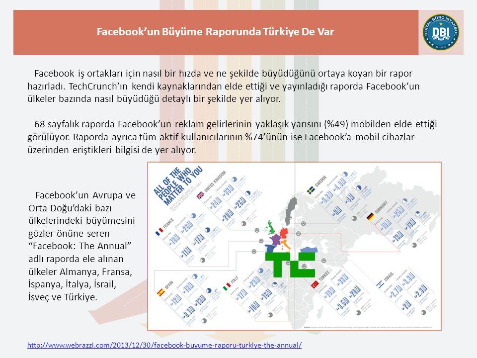 Facebook'un Büyüme Raporunda Türkiye De Var
