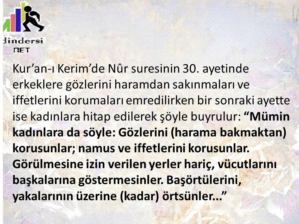 Kur'an-ı Kerim'de Nûr suresinin 30