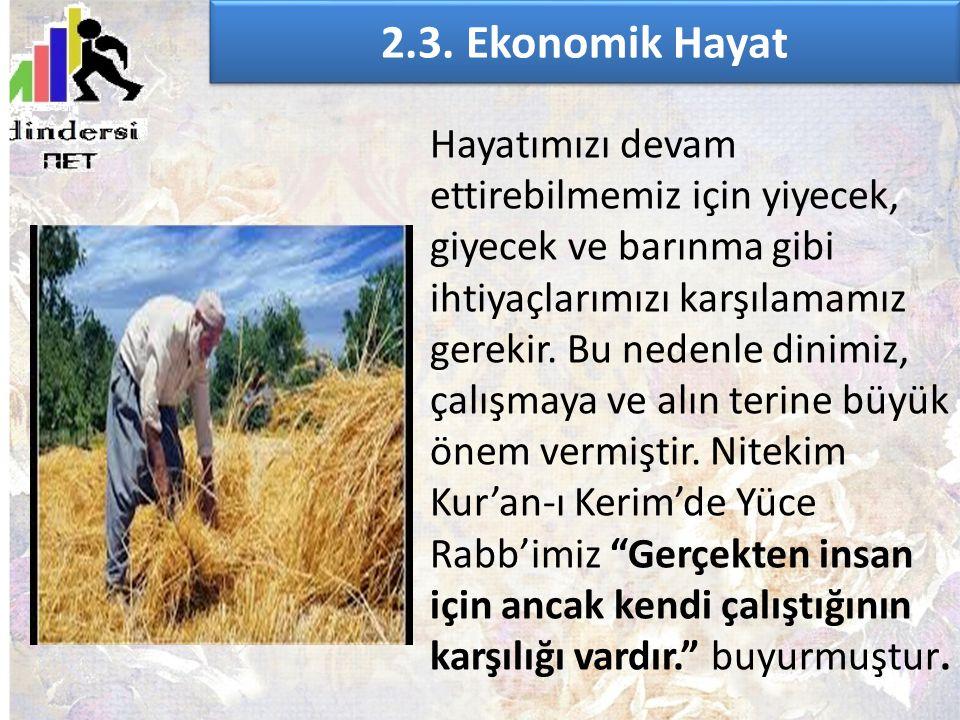 2.3. Ekonomik Hayat