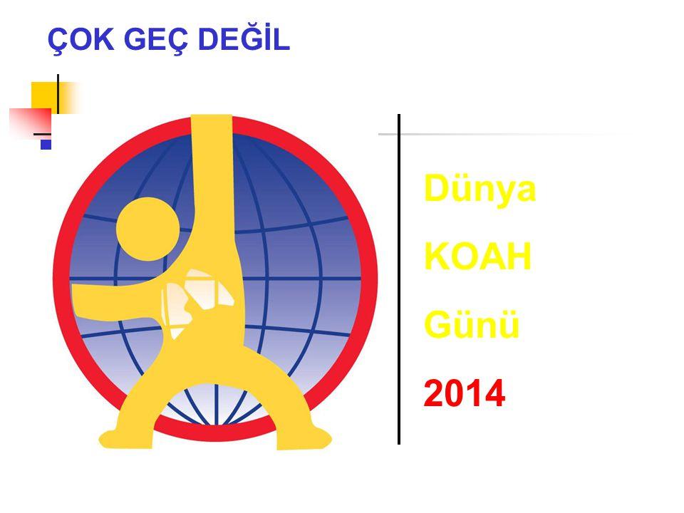 ÇOK GEÇ DEĞİL Dünya KOAH Günü 2014 1