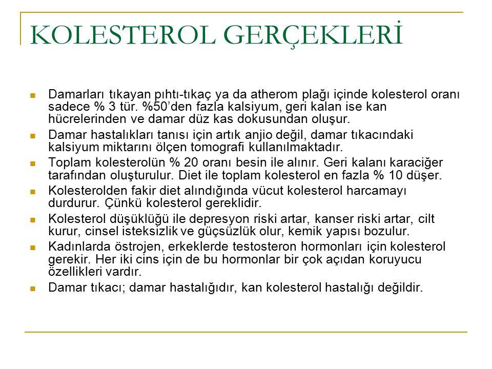 KOLESTEROL GERÇEKLERİ