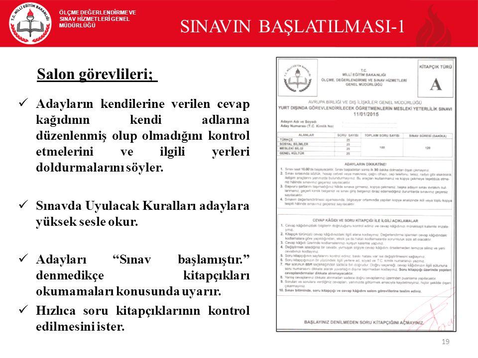 SINAVIN BAŞLATILMASI-1