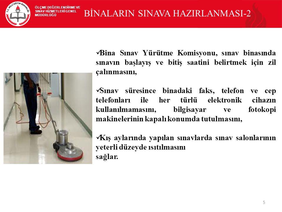 BİNALARIN SINAVA HAZIRLANMASI-2