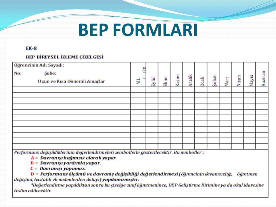 BEP FORMLARI