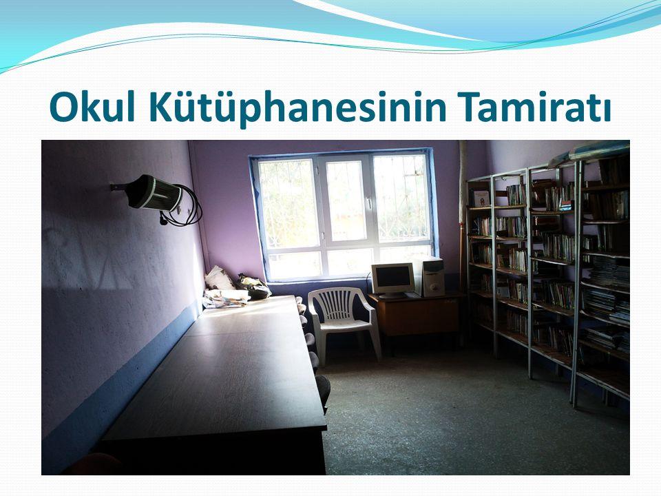 Okul Kütüphanesinin Tamiratı