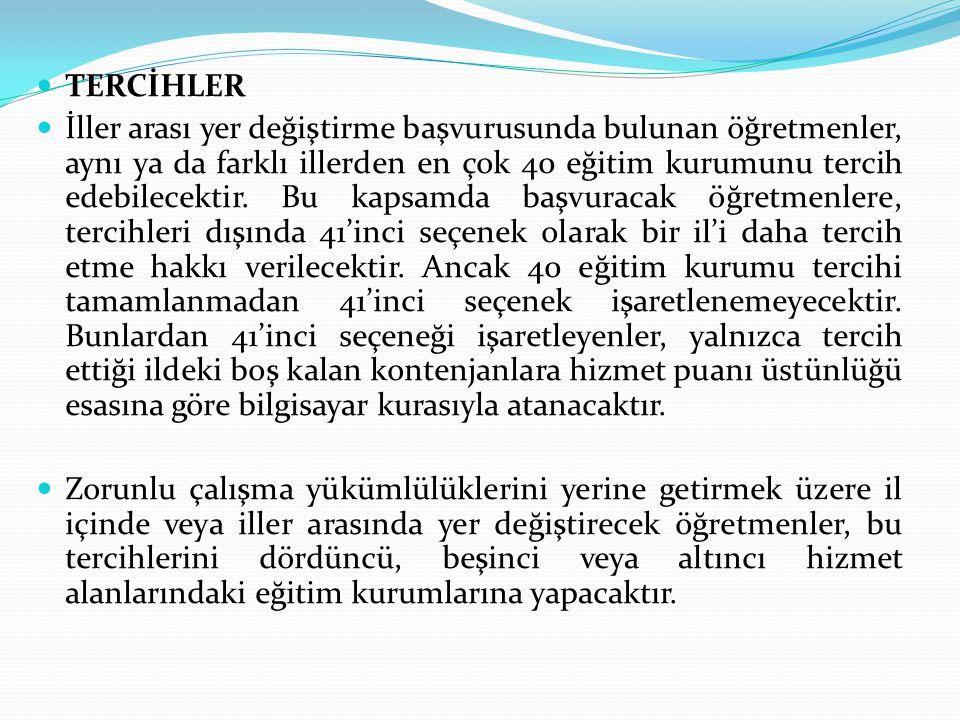 TERCİHLER