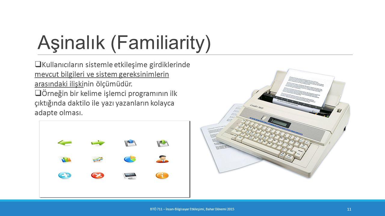 BTÖ 711 – İnsan-Bilgisayar Etkileşimi, Bahar Dönemi 2015