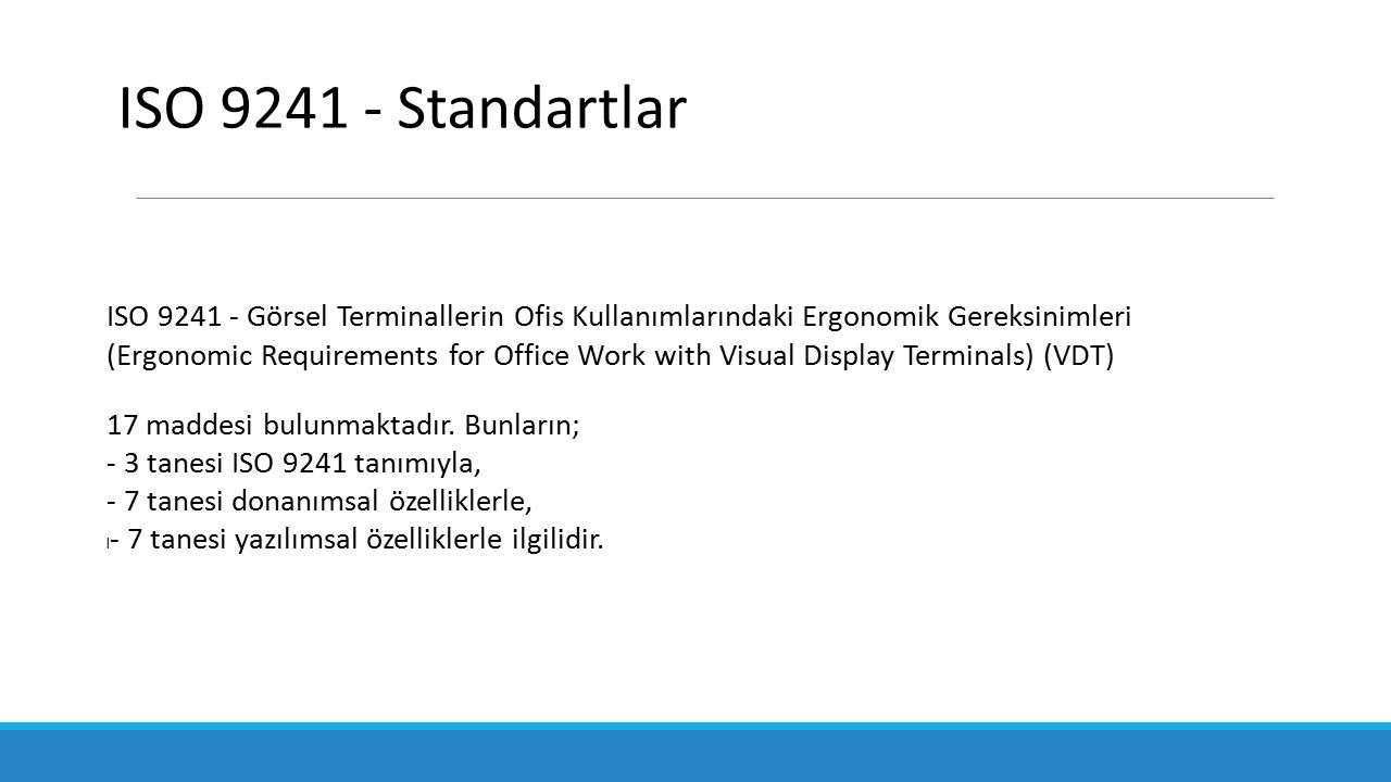 ISO 9241 - Standartlar