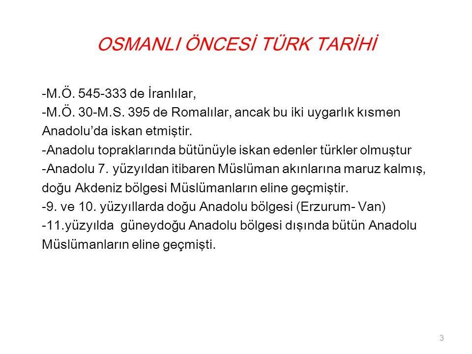 OSMANLI ÖNCESİ TÜRK TARİHİ