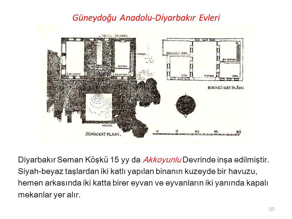 Güneydoğu Anadolu-Diyarbakır Evleri