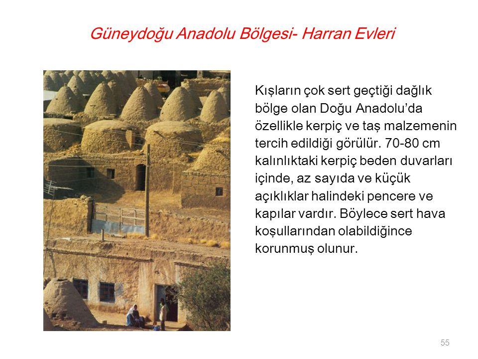 Güneydoğu Anadolu Bölgesi- Harran Evleri