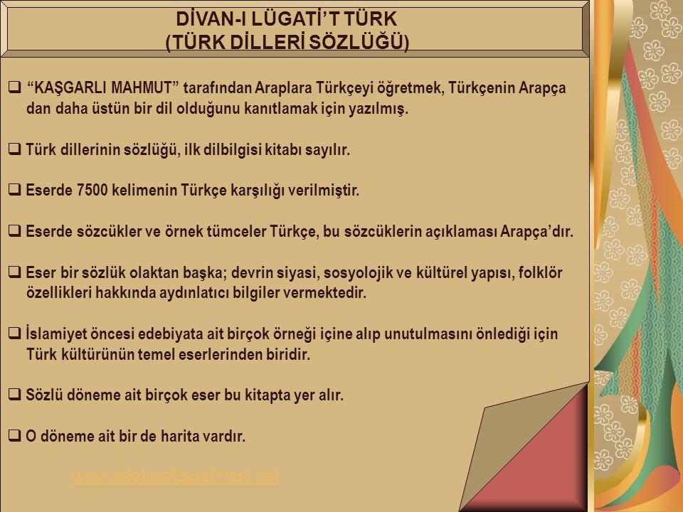 (TÜRK DİLLERİ SÖZLÜĞÜ)