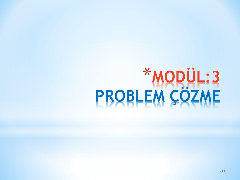 MODÜL:3 PROBLEM ÇÖZME 58 58