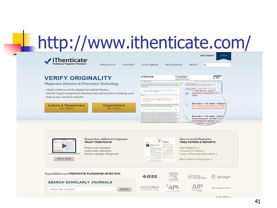 http://www.ithenticate.com/