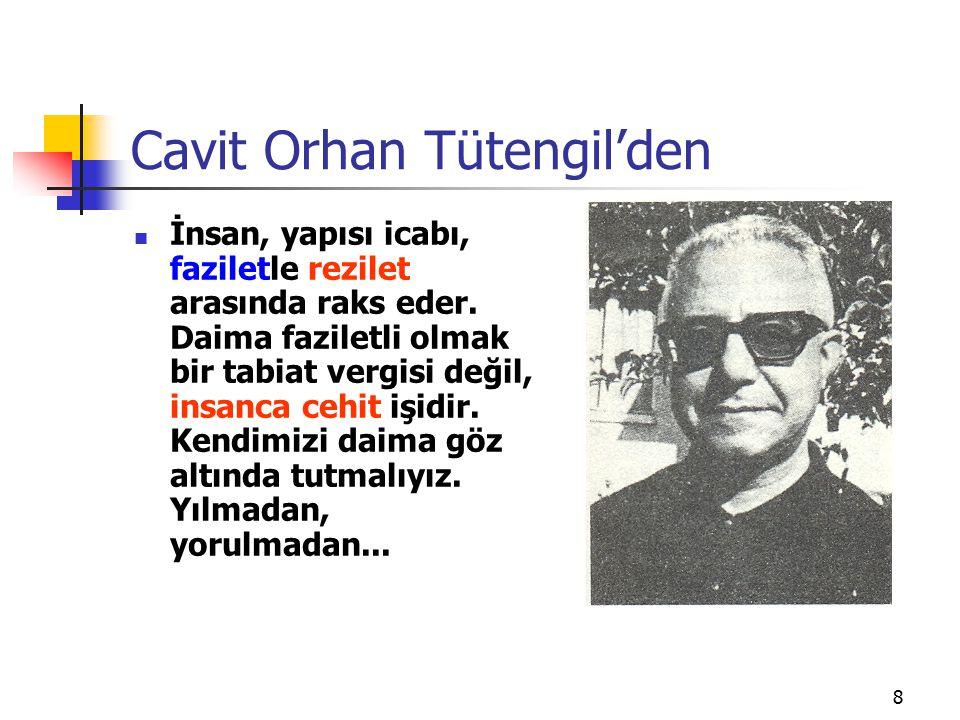 Cavit Orhan Tütengil'den