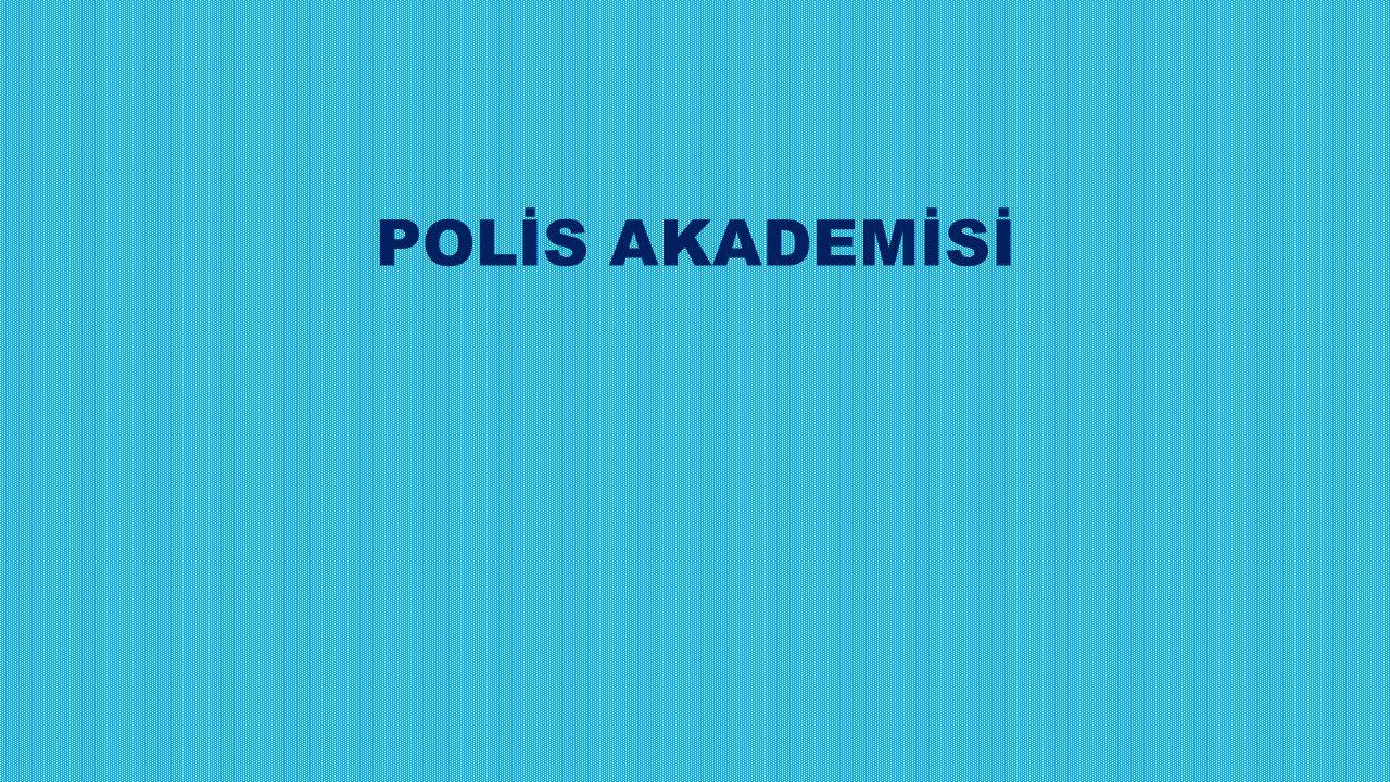 POLİS AKADEMİSİ