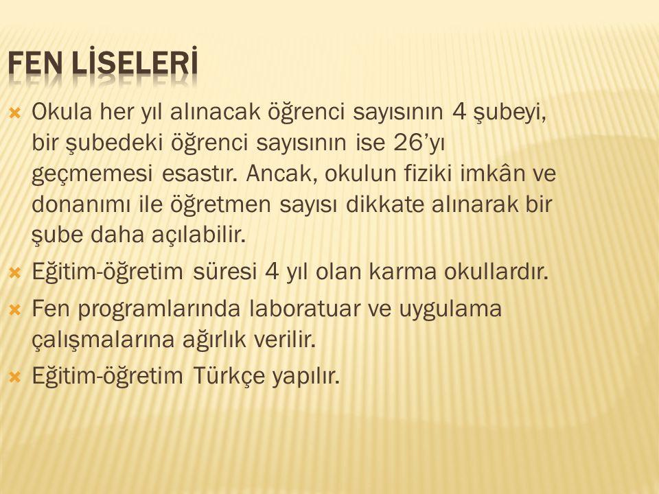 FEN LİSELERİ
