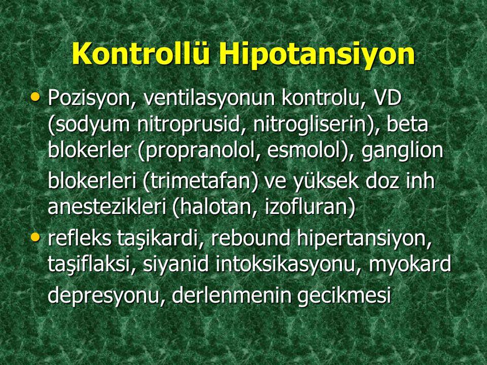 Kontrollü Hipotansiyon
