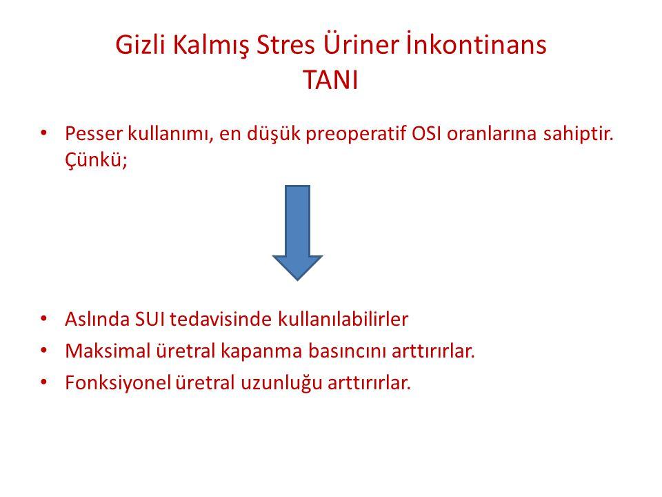 Gizli Kalmış Stres Üriner İnkontinans TANI