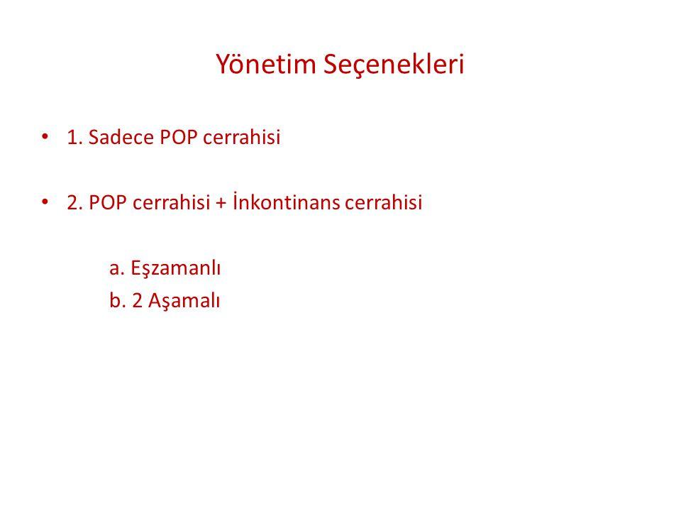Yönetim Seçenekleri 1. Sadece POP cerrahisi