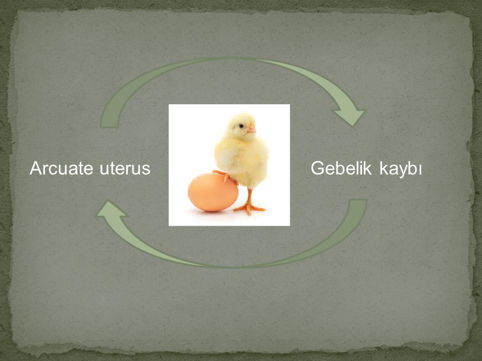Arcuate uterus Gebelik kaybı